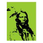 Crazy Horse Native American Postcard