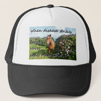 Crazy Horse versus Mad Cow. Trucker Hat