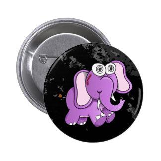 Crazy Insane Elephant Button