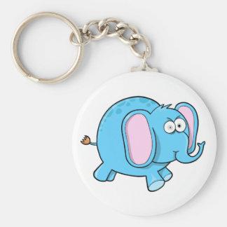 Crazy Insane Eyes Blue Elephant Key chain