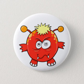 Crazy Insane Little Monster   Button