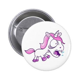 Crazy Insane Little Unicorn 6 Cm Round Badge