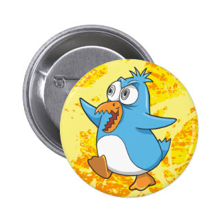 Crazy Insane Penguin  Button