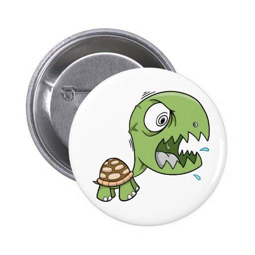 Crazy Insane Turtle Button