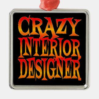 Crazy Interior Designer in Bright Colors Christmas Ornament