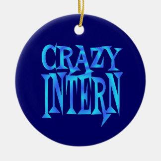 Crazy Intern Christmas Ornament