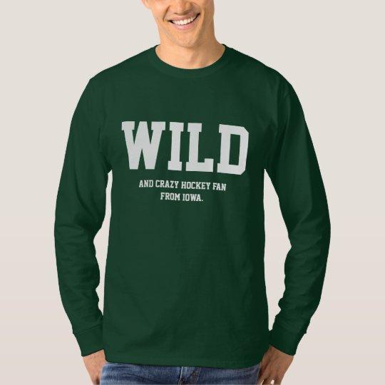 Crazy Iowa Hockey Fan Long Sleeve. T-Shirt