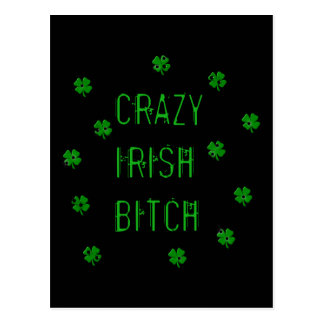 Crazy Irish B***** Postcard