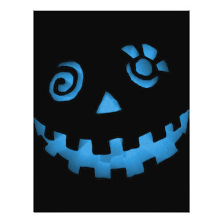 Crazy Jack O Lantern Pumpkin Face Blue 21.5 Cm X 28 Cm Flyer