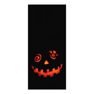 Crazy Jack O Lantern Pumpkin Face Orange Full Color Rack Card