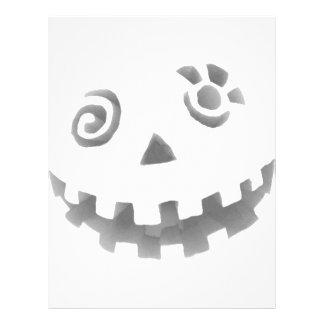 Crazy Jack O Lantern Pumpkin Face White Gray Personalized Flyer