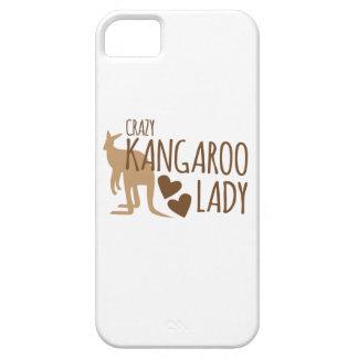 Crazy Kangaroo Lady iPhone 5 Cases