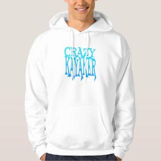 Crazy Kayaker Hooded Sweatshirts