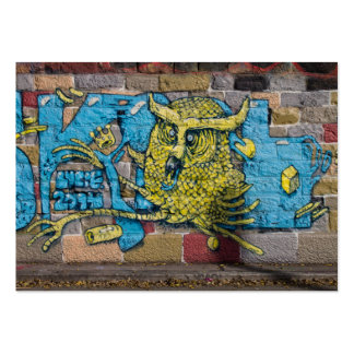 Crazy Kind Of Fantasy Horned Owl Graffiti Pack Of Chubby Business Cards