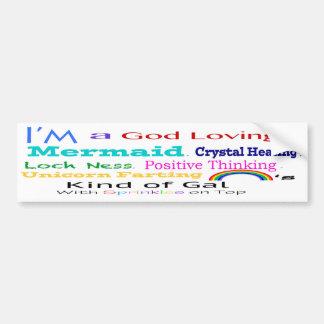 Crazy kind of gal bumper sticker