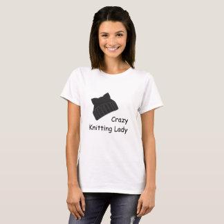 Crazy Knitting Lady T-Shirt
