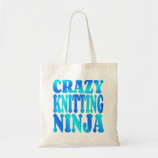 Crazy Knitting Ninja Tote Bag