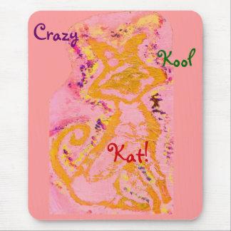 Crazy Kool Kat Mousepad - Customizable Mousepad