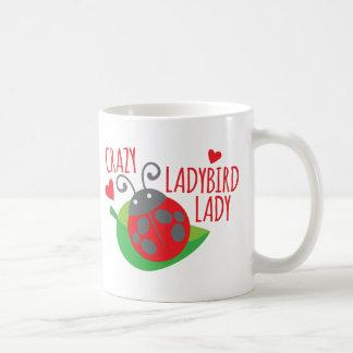 Crazy Ladybird Lady Basic White Mug