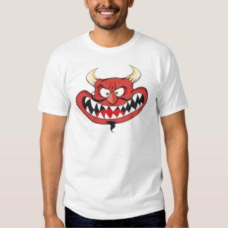 Crazy laughing evil devil t-shirt