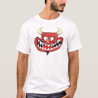 Crazy laughing evil devil T-Shirt