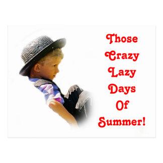Crazy Lazy Days,Summer  Postcard