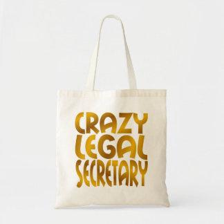 Crazy Legal Secretary in Gold Tote Bag