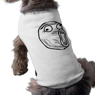 Crazy Lol Comic Meme Sleeveless Dog Shirt