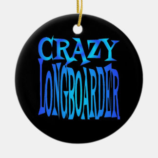 Crazy Longboarder Christmas Ornament