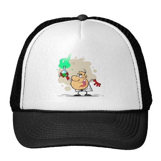 crazy mad scientist cartoon cap