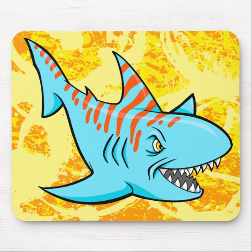 Crazy Mad Shark  Mouse Pad