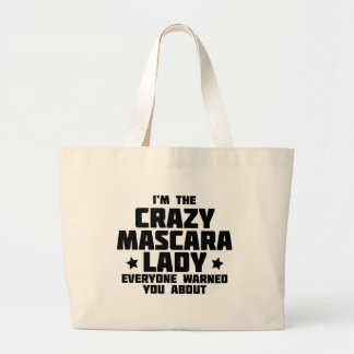 Crazy Mascara Lady Large Tote Bag
