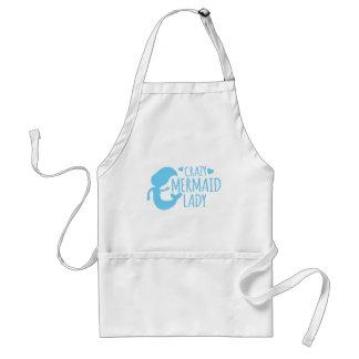 crazy mermaid lady standard apron
