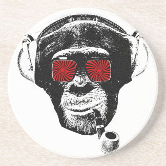 Crazy monkey drink coaster