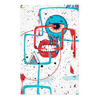 Crazy Monster Face Funny Stationery