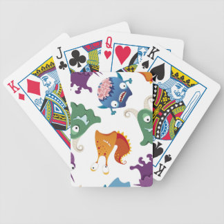 Crazy Monsters Fun Colorful Patterns for Kids Bicycle Playing Cards