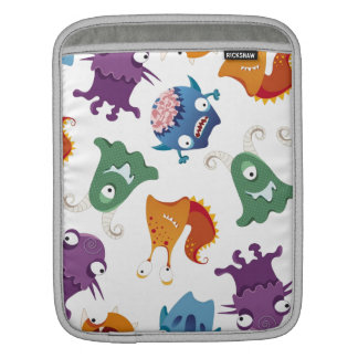 Crazy Monsters Fun Colorful Patterns for Kids Sleeves For iPads