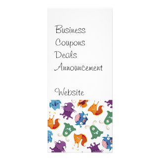 Crazy Monsters Fun Colorful Patterns for Kids Personalized Rack Card