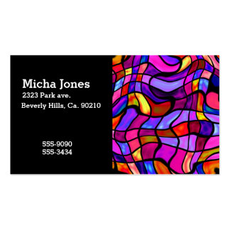 Crazy Mosaic Colorful Collision Business Card Template
