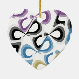 Crazy multicolor design! ceramic heart decoration
