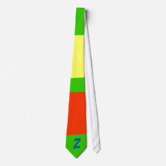 Crazy multicolored pattern tie