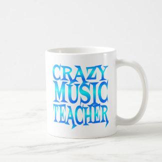 Crazy Music Teacher Basic White Mug