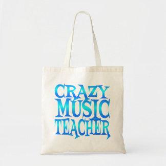 Crazy Music Teacher Budget Tote Bag