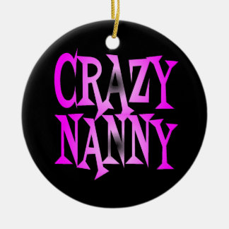 Crazy Nanny in Pink Christmas Ornament