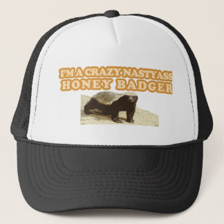 CRAZY NASTYASS HONEY BADGER TRUCKER HAT