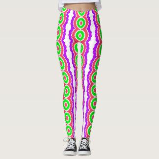 Crazy Neon Striped Leggings
