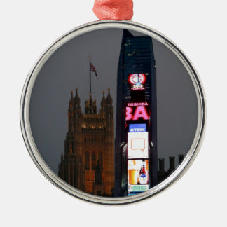 Crazy! New York City meets London Christmas Ornament