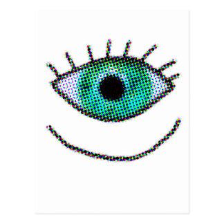 Crazy One Big Eye Postcard