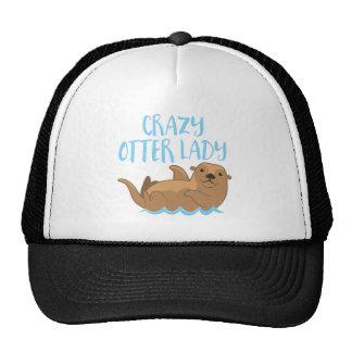 crazy otter lady cute! cap