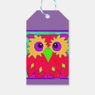 Crazy Owl Gift Tag